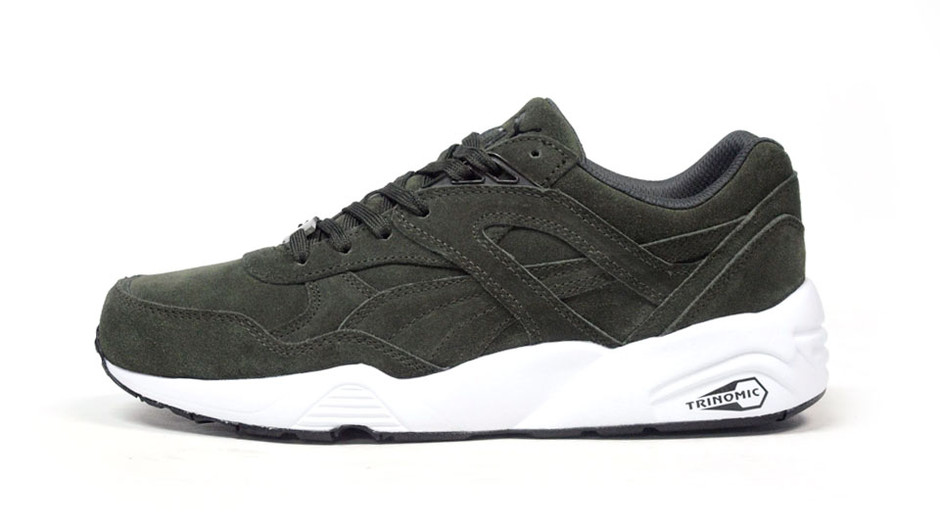 """R698 ALLOVER SUEDE """"LIMITED EDITION for D.C.4"""" OLV/WHT プーマ Puma 