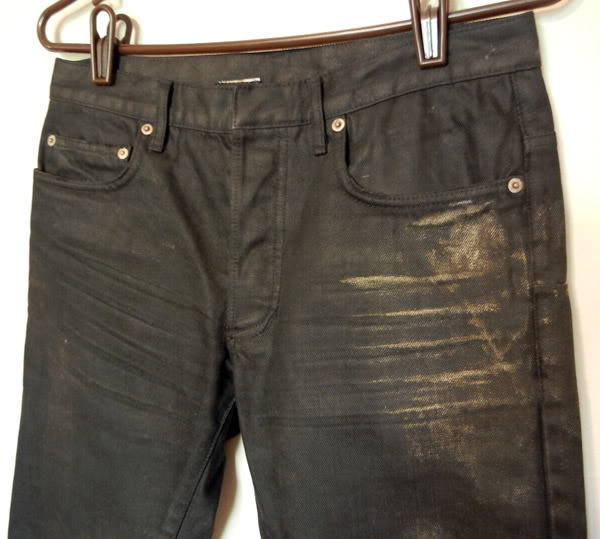 superfuture :: supertalk :: Dior Homme '07 Black Gold Waxed Jeans - 29