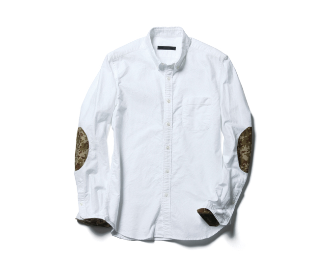 SOPHNET. | PRODUCT | ELBOW PATCHED OXFORD B.D SHIRT