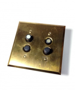 """1900's 【H&H】Double """"Shell """"Push button Switches - FUNNY SUPPLY"""