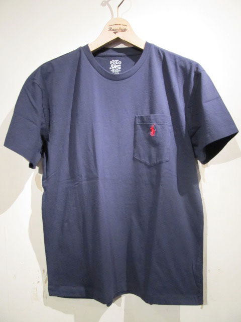 RALPH LAUREN > T-SHIRTS - POLO RALPH LAUREN S/S ONE POINT POCKET TEE NAVY/ラルフローレン 半袖 ワンポイント ポケットTシャツ ネイビー - RAWDRIP ONLINE SHOP - RAWDRIP ONLINE SHOP