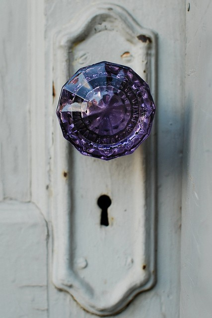 Fancy - Purple Amethyst Door Knob