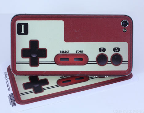Classic Famicom controller iPhone 4 Decal Skin by killerduckdecals