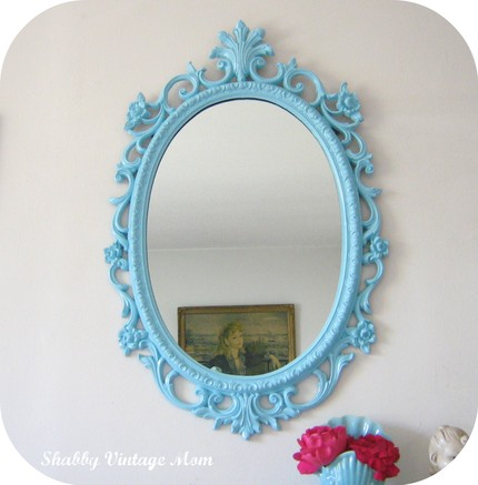 Brightly Colored Baroque Mirrors For Your Kids Room Decor