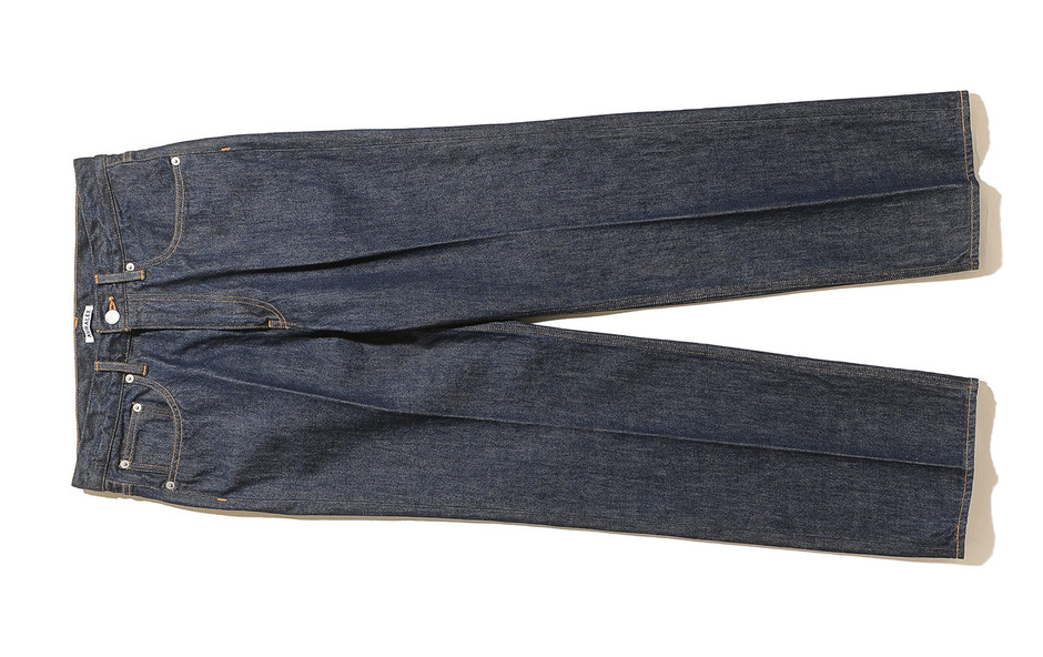 Hard Twist Denim 5P Pants-Indigo