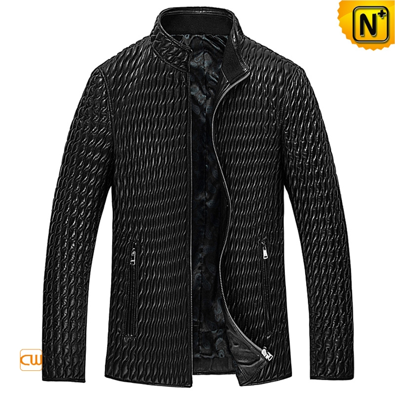 Mens Quilted Leather Jacket CW850009