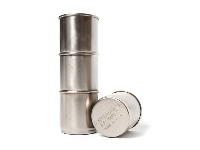 NESTING STEEL SHOT CUPS - Wintercheck Factory | Furniture, Clothing, Equipment, etc.