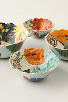 Painted Amaryllis Measuring Cups | Anthropologie.eu