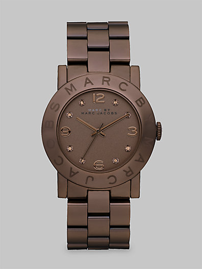 Crystal Accented Brown Ion-Plated Watch - Zoom - Saks Fifth Avenue Mobile