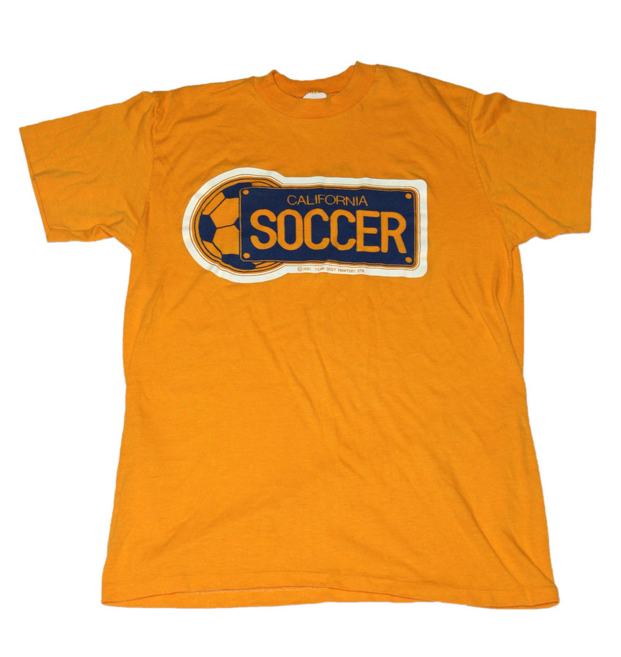 Vintage 1981 California Soccer Shirt Made in USA Mens Size Small | Vintage Mens Goods