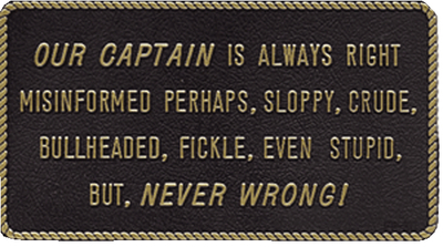 the captain is always right - Google Search