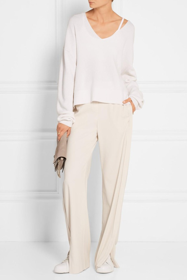 Theory | Jolinta stretch-crepe wide-leg pants | NET-A-PORTER.COM