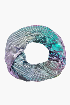 Maison Martin Margiela Multicolor Iridescent Chainmail Infinity Scarf for women | SSENSE