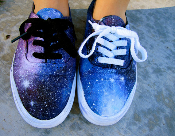 Custom Painted Galaxy Shoes by KillerConstellations on Etsy