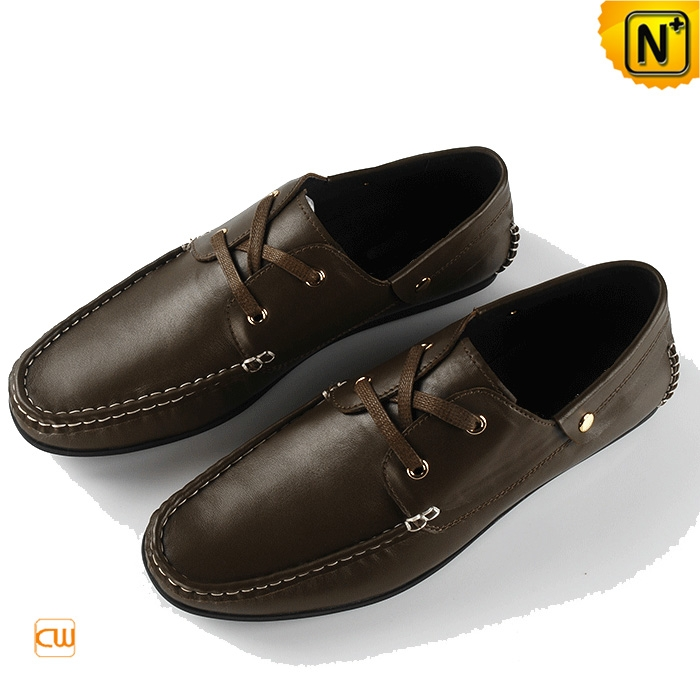 Mens Slip On Leather Driving Shoes CW740081