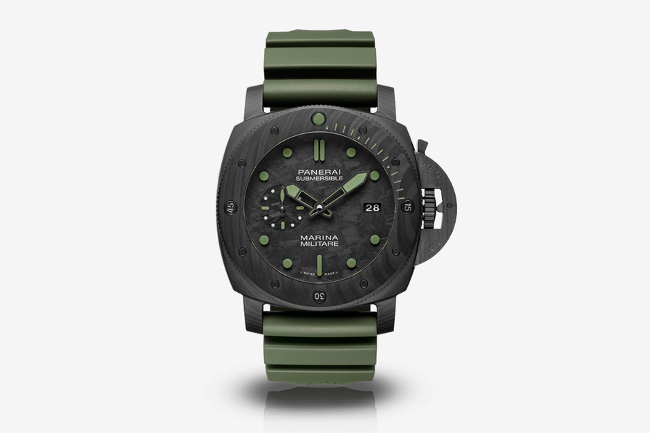 Panerai Submersible Marina Militare Carbotech Watch | HiConsumption