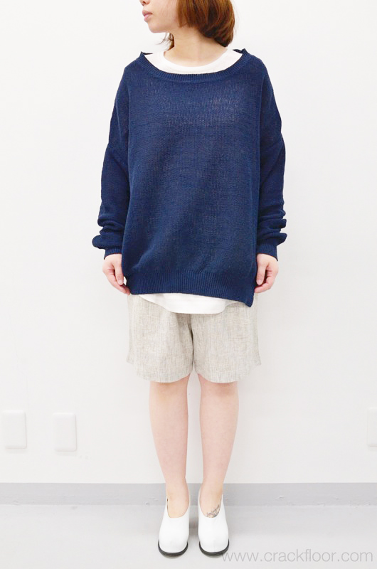 FFIXXED KNIT COVER SWEATER - ダークブルー - CRACKFLOOR WEBSHOP