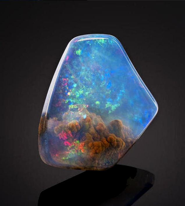 Incredible space stone seems like it has a nebula trapped inside