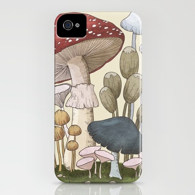 Mushroom Collection 1 iPhone Case by Yasmine Surovec   Society6