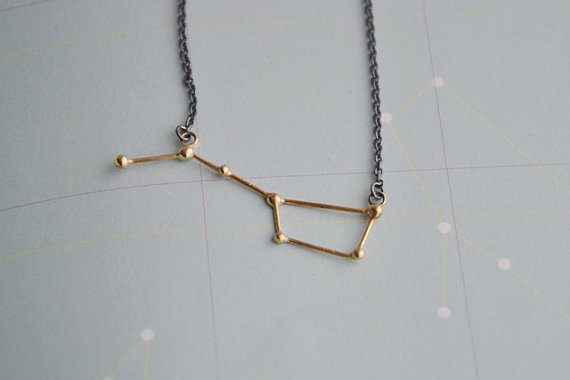 Ursa Major / Big dipper necklace goldplated and by Twinklebird