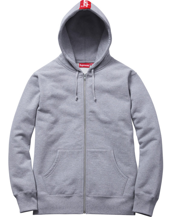 Supreme - Logo Tape Zip Up Hoody | Available Now - FreshnessMag.com