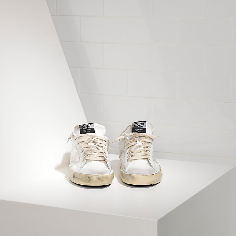 SUPER STAR sneakers in leather with plastic star - G24U590.P6 - Golden Goose