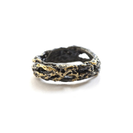 Riddle Ring - Black & Gold