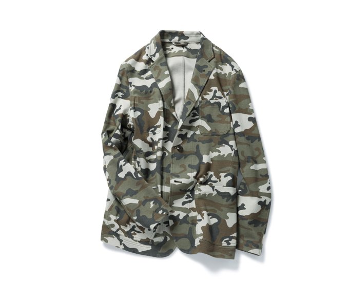 SOPHNET. | PRODUCT | CAMOUFLAGE JERSEY 2 BUTTON UNCON JACKET