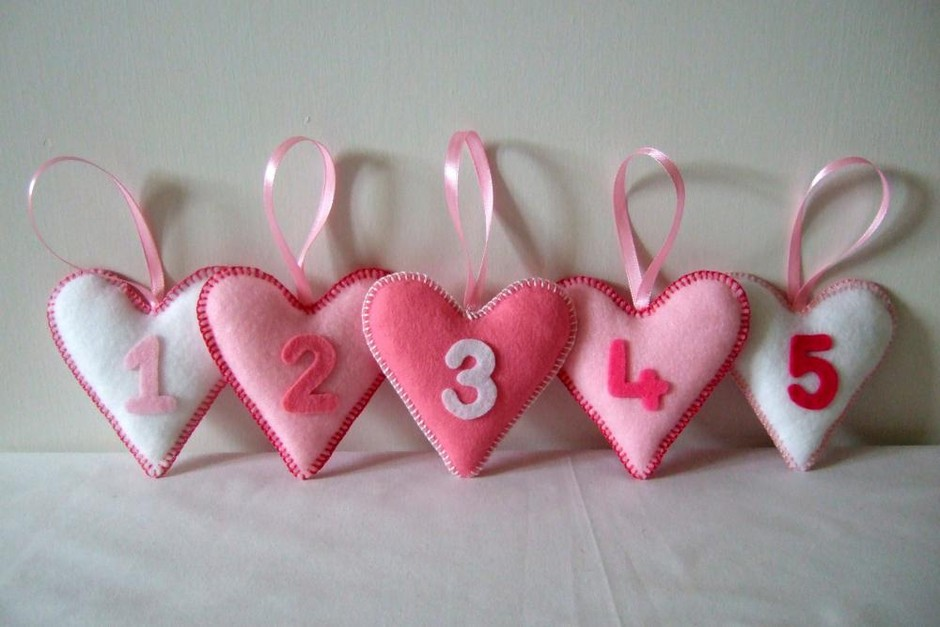 Pink Heart Number Decorations | Luulla