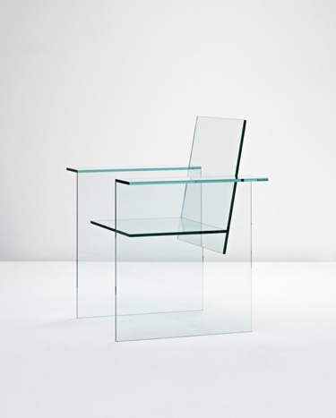 Détail de l'image -an awesome glass chair designed 1976 produced by the mihoya glass co ...
