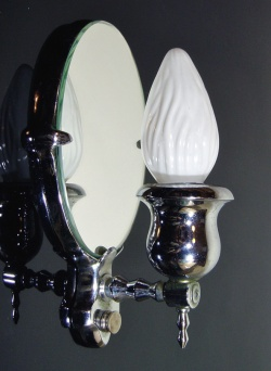 """Lighting&Electric - 1930's """"Nickle Plated Cast Brass"""" Candle Lamp【Art Deco】 - FUNNY SUPPLY □ Antiques ■"""