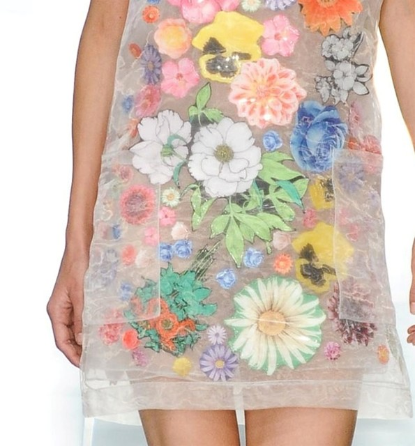 Christopher Kane Floral Sticker Organza Dress, S/S12 | AnOther Loves