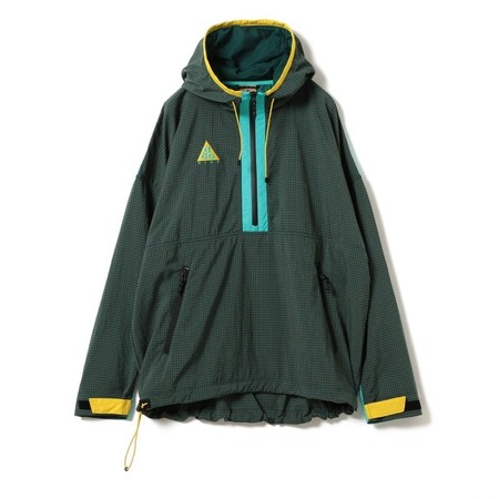 Hooded Jacket - Dark Green/Teal/Maize?