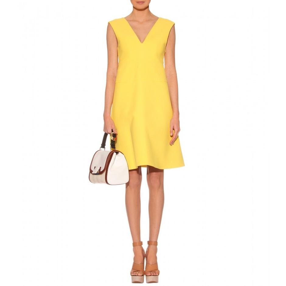 mytheresa.com - Marni - COTTON WOVEN DRESS WITH A V-NECKLINE - Luxury Fashion for Women / Designer clothing, shoes, bags