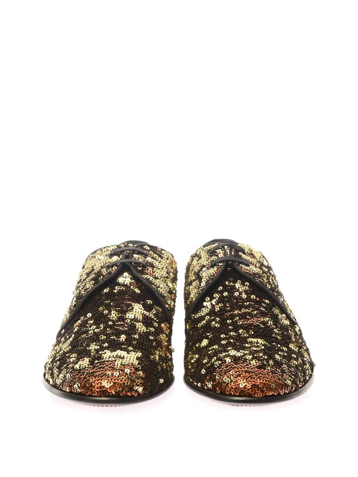 Sequinned lace-up shoes | Dolce & Gabbana | MATCHESFASHION.COM