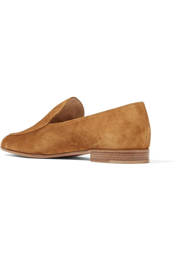 Gianvito Rossi | Suede loafers | NET-A-PORTER.COM