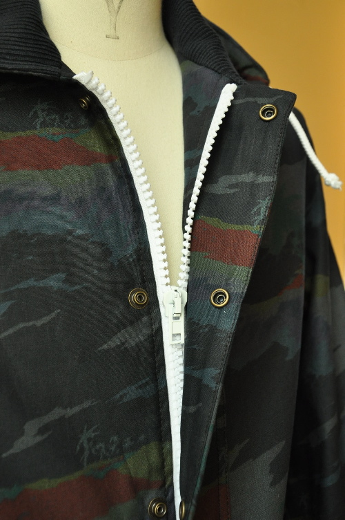 【楽天市場】ADAM KIMMEL(アダムキメル) ZIP-HOODED JACKET(HAWAIIAN OVERDYE COTTON LINEN col.BLACK KPSU22):Mathematics