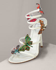 Celebrate Summer with Rene Caovilla Butterfly Sandals | Top 10 shoes, Luxury shoes