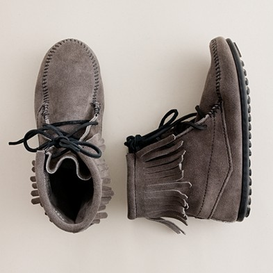 Girl's shoes - flats & moccasins - Girls' Minnetonka® Tramper boots - J.Crew