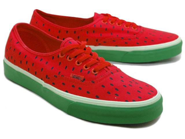 Rakuten: The [sellout ]【 deep-discount mass arrival! 】 VANS AUTHENTIC (WATERMELON PRIINT) HIGH RISK RED/BLACK station wagons / authentic / watermelon print / watermelon / red / black / classical music line- Shopping Japanese products from Japan