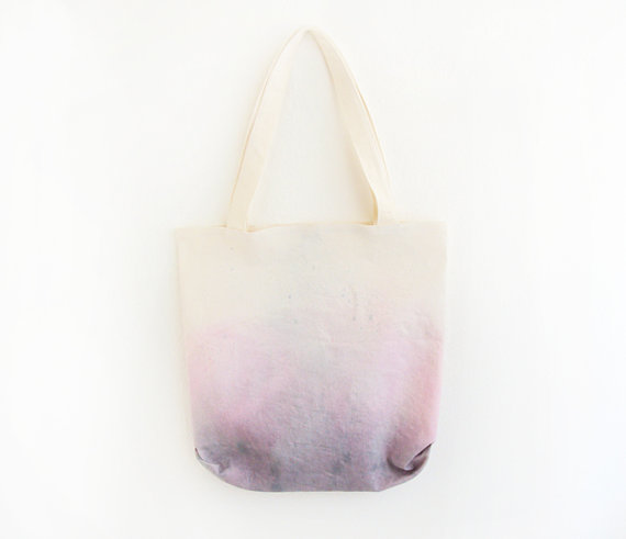 purple pink dyed texture tote by ziazia on Etsy