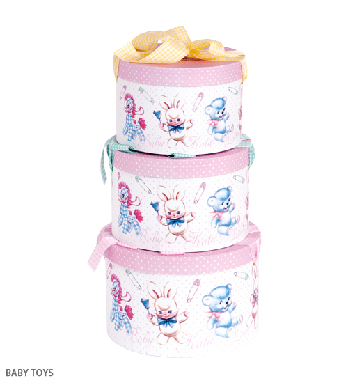 ACCESSORY - HAT BOX round BABY TOYS - Katie Official Web Store