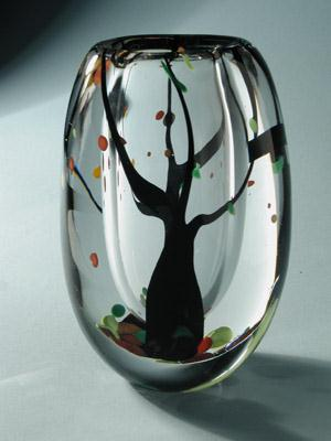 Vase, Autumn, designed by Vicke Lindstrand for Kosta