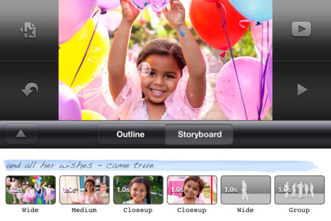 iMovie for iPhone 3GS, iPhone 4, iPhone 4S, iPod touch (3rd generation), iPod touch (4th generation) and iPad on the iTunes App Store