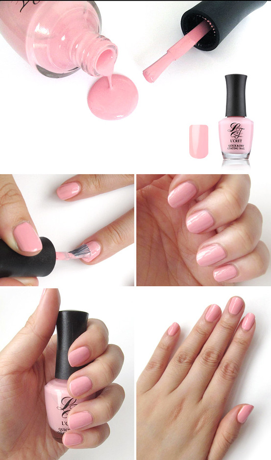 [L CRET] Quick And Dry Coating Nail - Pink - wishtrend