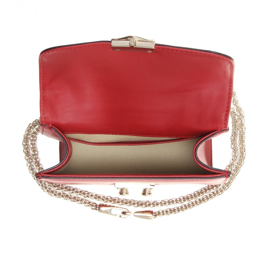 mytheresa.com - Lock Mini leather shoulder bag - Current week - New Arrivals - Valentino - Luxury Fashion for Women / Designer clothing, shoes, bags