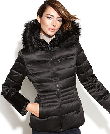 DKNY【関税込み】Petite Coat, Trim Quilted Puffer - Surely Found Tokyo