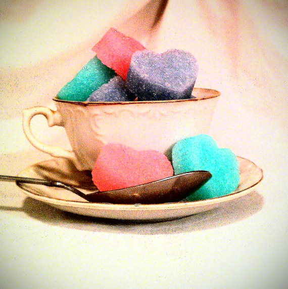 heart shaped sugar cubes by kanekl on Etsy