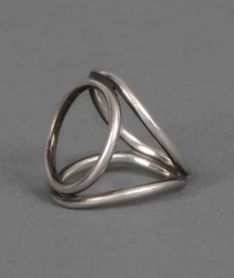 【LASO ラソ】NEW!!2012AW●ANN DEMEULEMEESTER●SILVER RING アン ドゥムルメステール