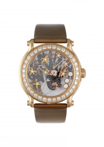 Chopard animal world | A superb lady's happy sport diamond and gem-set panda watch | 137707-5003